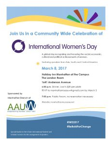 International Women's Day 2017 Events Poster