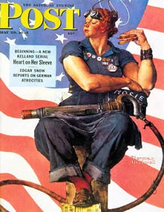 Norman Rockwell's Saturday Evening Post cover featuring Rosie the Riveter