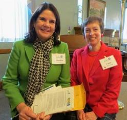 STEM educators Marilyn Fox (left) and Christine Harold